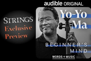 "yo-yo ma audible project ""beginner's mind"" cover art preview for strings magazine"