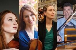 Augusta McKay Lodge, violin; Georgina McKay Lodge, viola; Eva Lymenstull, cello; David Schulenberg, harpsichord
