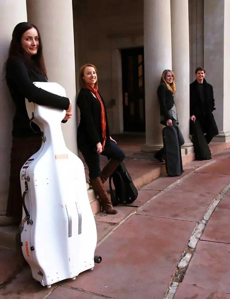Miranda Wilson with the Tasman String Quartet in Germany 2009.