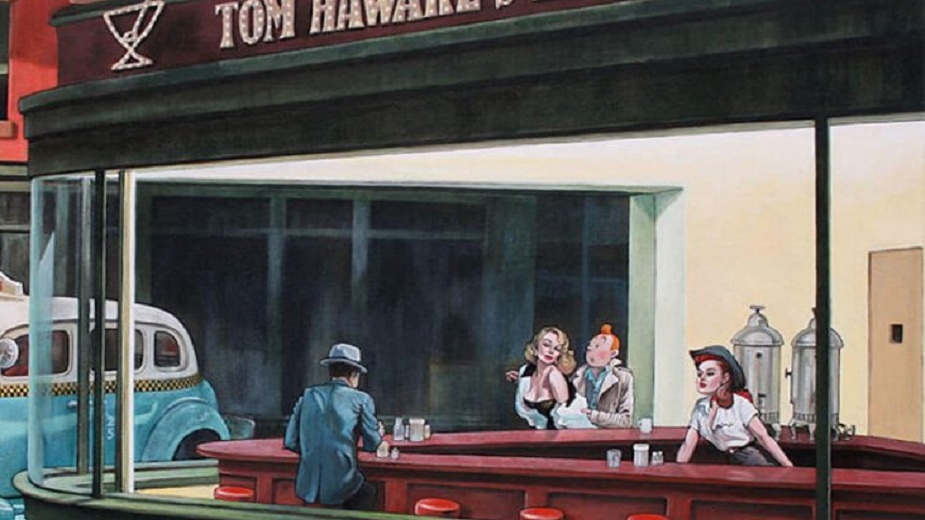 Tintin kao glavni lik na slikama Edvarda Hopera (GALERIJA) strip blog