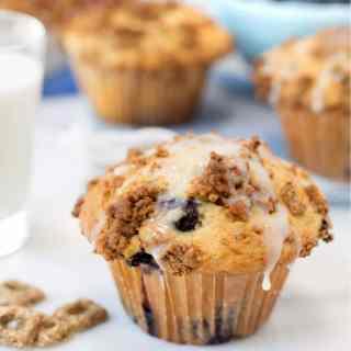 cracklin oat bran blueberry crunch muffins recipe #shop #ad