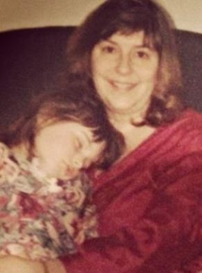 young stephanie and mom