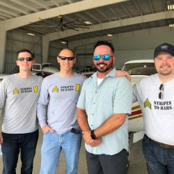 Stripes to Bars Team with Brad Branum, 2018 scholarship recipient | Aviation | Veteran
