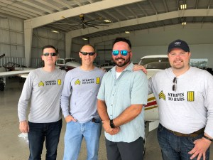 Stripes to Bars Team with Brad Branum, 2018 scholarship recipient | Aviation | Veterans