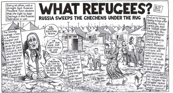 Joe Sacco over vluchtelingen.