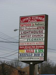 Signage for Lighthouse Baptist Church