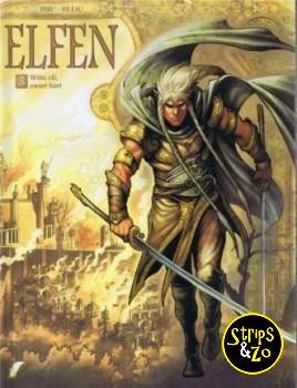 elfen 3 Witte elf, zwart hart
