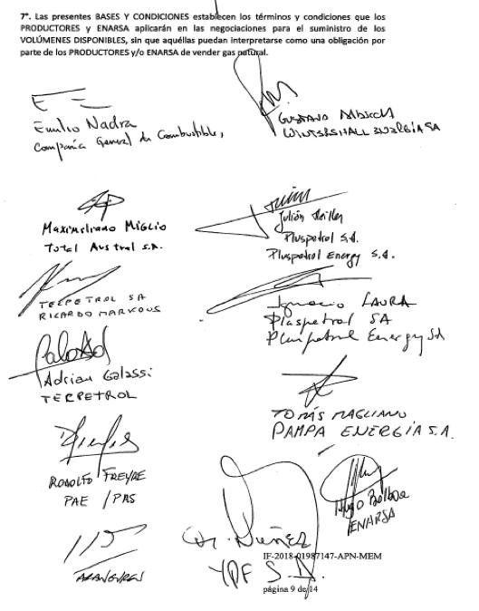 FMI, Macri, Gas Natural, Juan José Aranguren, Ministro de Energía, YPF, Tecpetrol, TOTAL, CGC, DOWN, Wintershall, PAE del grupo Bulgheroni, Pluspetrol, SHELL, secretario de Energía Javier Iguacel, Vaca Muerta, petróleo, AUH (Asignación Universal por Hijo)