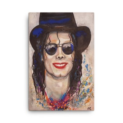 "Image of Michael Jackson 24"" x 36"" Canvas by artist Deborah Kala"