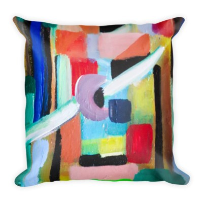 Tribal - luxury square pillow