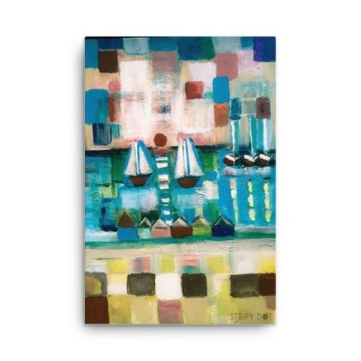 "Sailboats One - 24"" x 36"" Canvas"