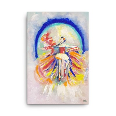 Image of Exotic Ballerina 24 x 36 Canvas by Deborah Kala