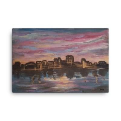 "Image of Sunset City - 24"" x 36"" Canvas -"