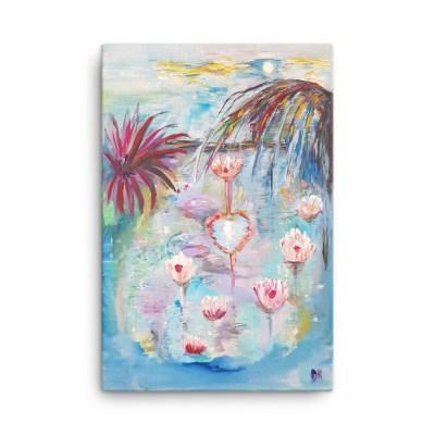"Image of Loveblossoms 24"" x 36"" - Canvas - By artist Deborah Kala"
