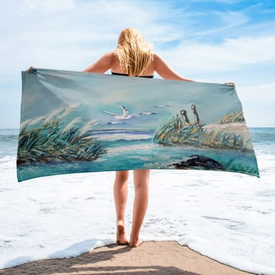 mage of MomentInTime - 60 x 30 (in) Sublimated Towel