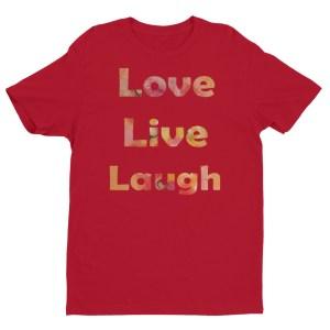 Image of LiveLoveLaugh - by our own artist Deborah Kala(red)