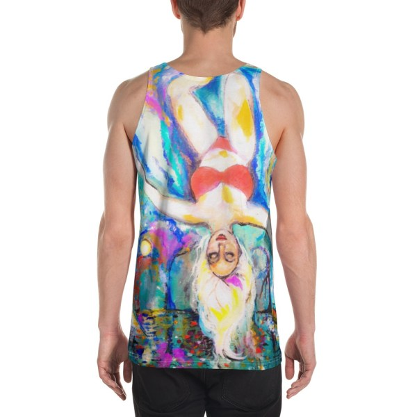 Image of Sweet Day Dreamer - Unisex Tank Top - By Stripy Dot back