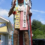 Indian Statue in front of shop