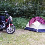 Motorcycle & Tent