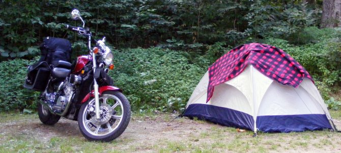 Savoy Mountain Motorcycle Camping