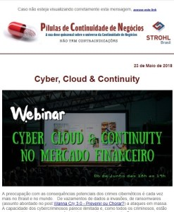 Cyber, Cloud & Continuity no Mercado Financeiro