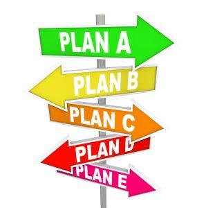 Chegou a hora de desenvolver o Plano B, C, D, E ...