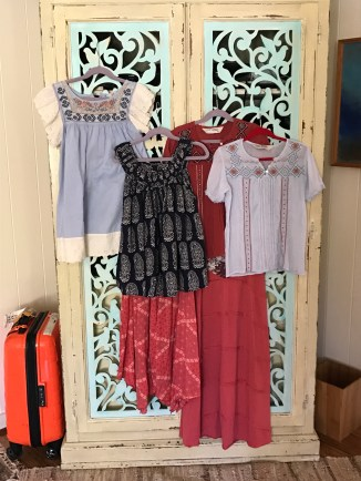 Scarlet's tops and skirts