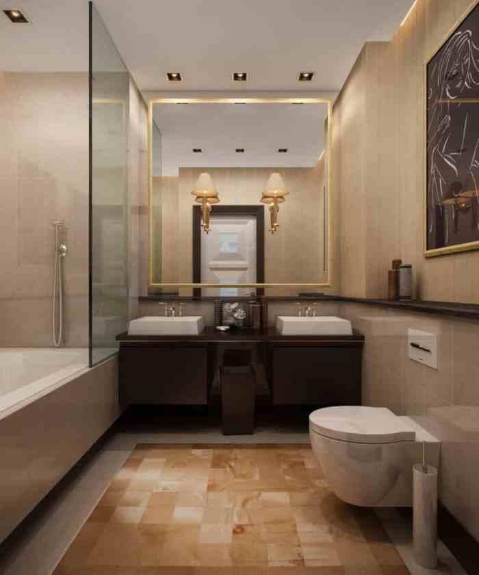вариант оформления ванной