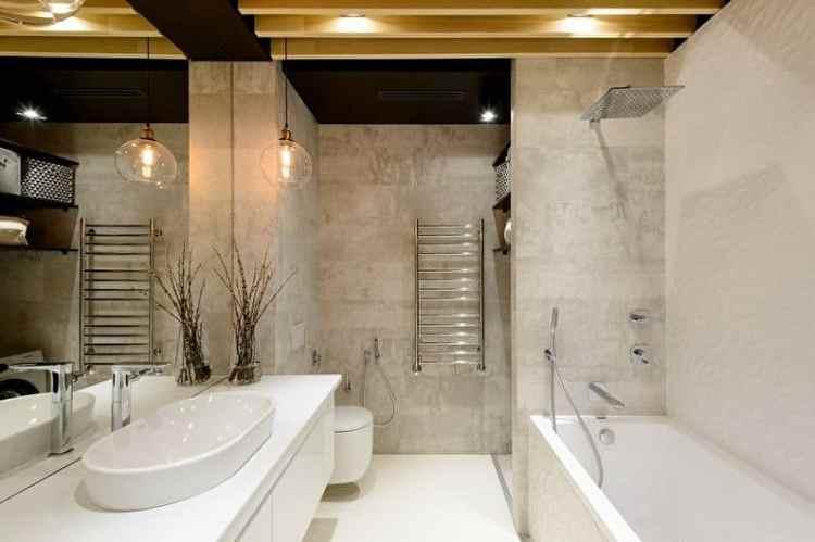 Бетон в ванной