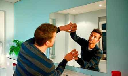 высота зеркала в ванной
