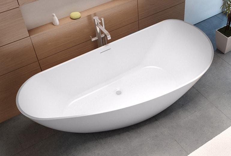Дизайн и преимущества ванны из искусственного камня