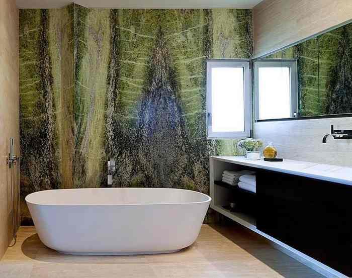 Природные тона в дизайне ванной комнаты