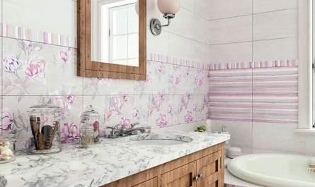 Плитка Шебби-шик в интерьере ванной