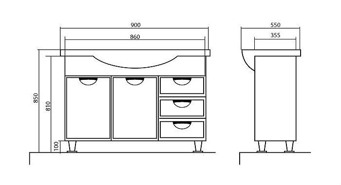 Мебель для ванной проект