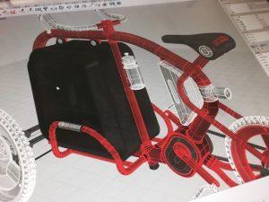 STROKEカーゴトライク(3輪カーゴバイク)ミニチュアモデル製作11