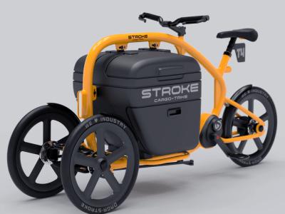 STROKEカーゴトライク(カーゴバイク)試作4号機の完成予想イメージ01
