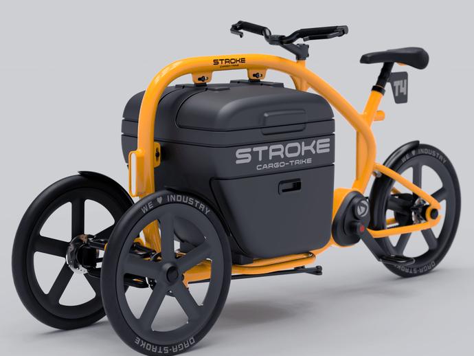 STROKE(カーゴバイク)試作4号機の完成予想イメージフロントビュー