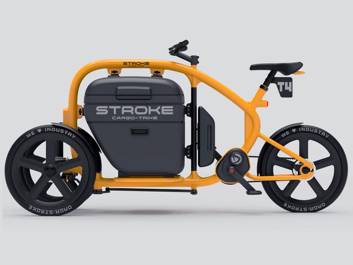 STROKE(カーゴバイク)試作4号機の完成予想イメージサイドビュー