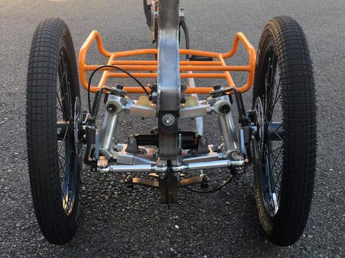 カーゴバイクSTROKE試作3.7号機のサスペンション仮組み1