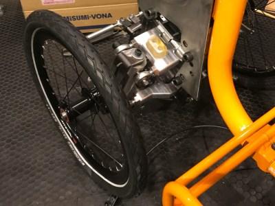 カーゴバイクSTROKE試作3.7号機のサスペンション仮組み9