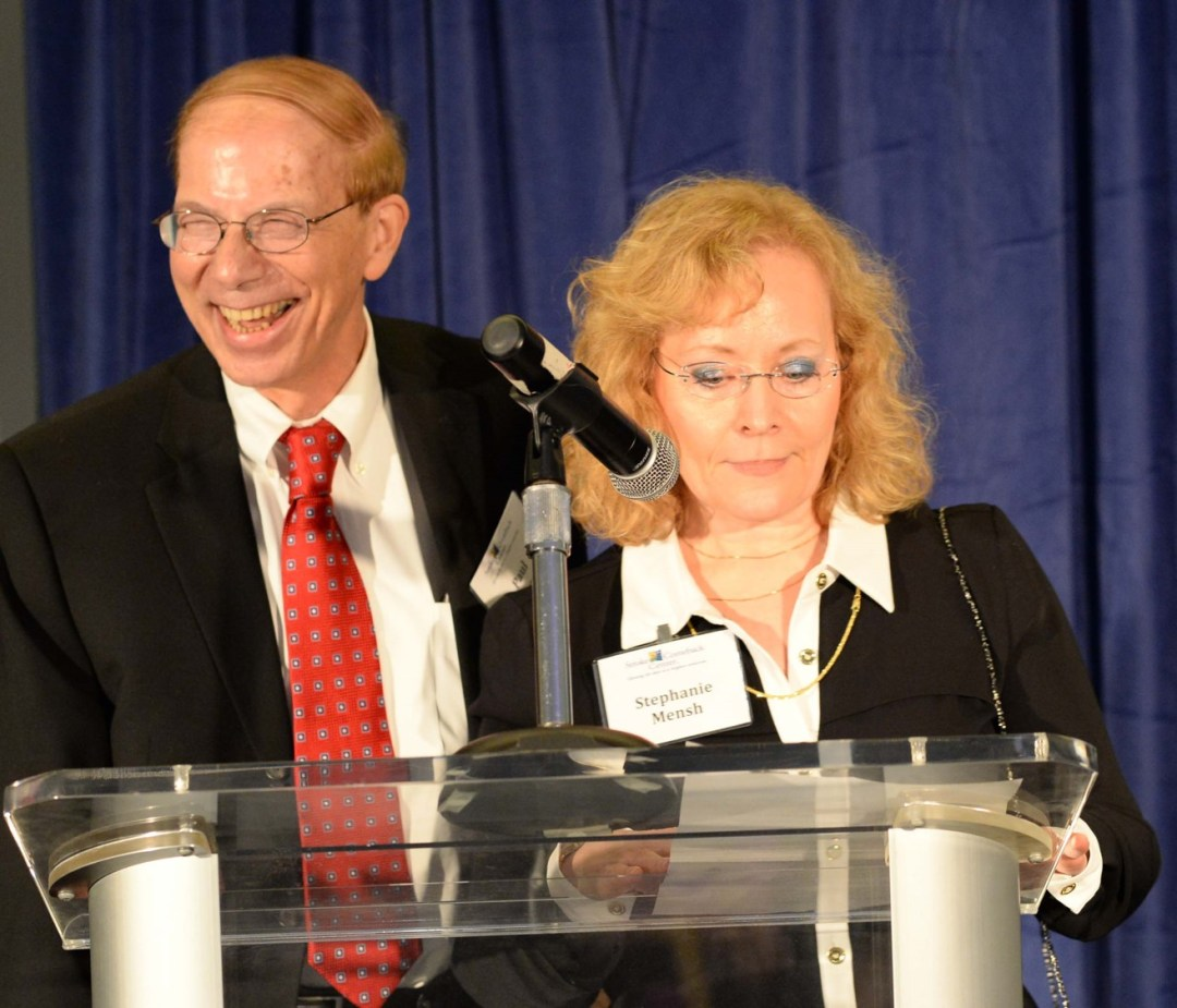 Photo of Stroke Survivor Paul Berger & wife Stephanie Mensh at a speaking event
