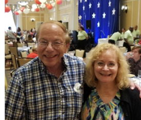 Photo of Paul and Stephanie at the Independence Day party at the Homestead resort, Hot Springs, VA, 2019