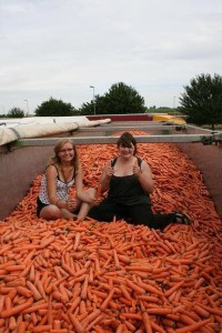 kasia lewaczka.pl in the truck full of carrots