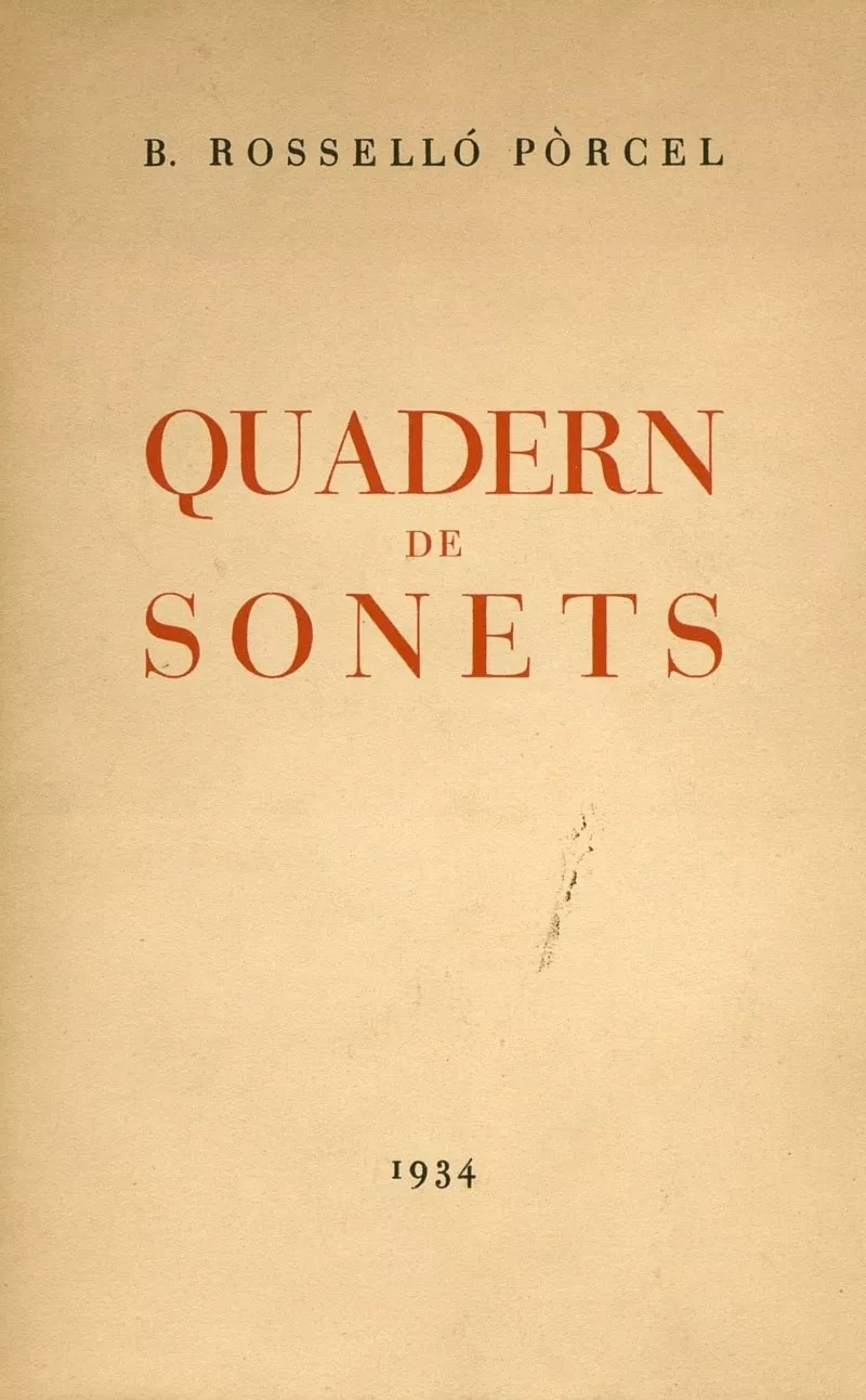 quadern de sonets bartomeu rossello porcel poesia català literatura leda inici campana