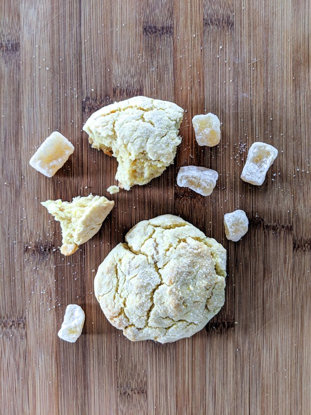 gluten free lemon ginger scones