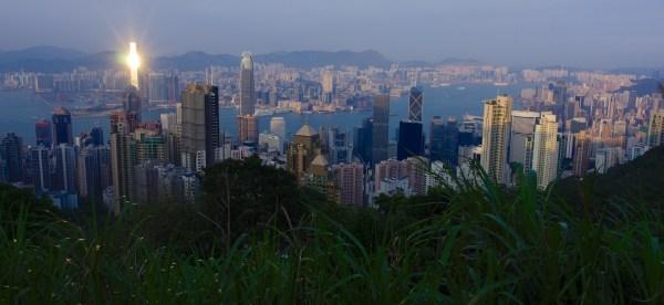 Ausblick auf Hongkong