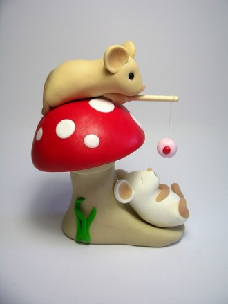 polymer-clay-mouse-figures