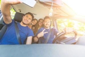 Distracted Driving Selfie