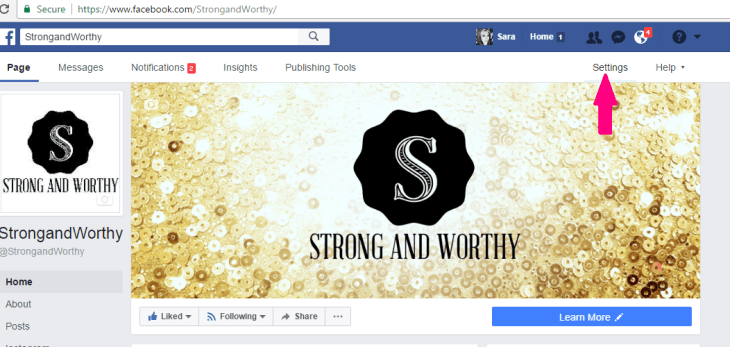Step 1 How to link your Facebook group to your Facebook page www.strongandworthy.com