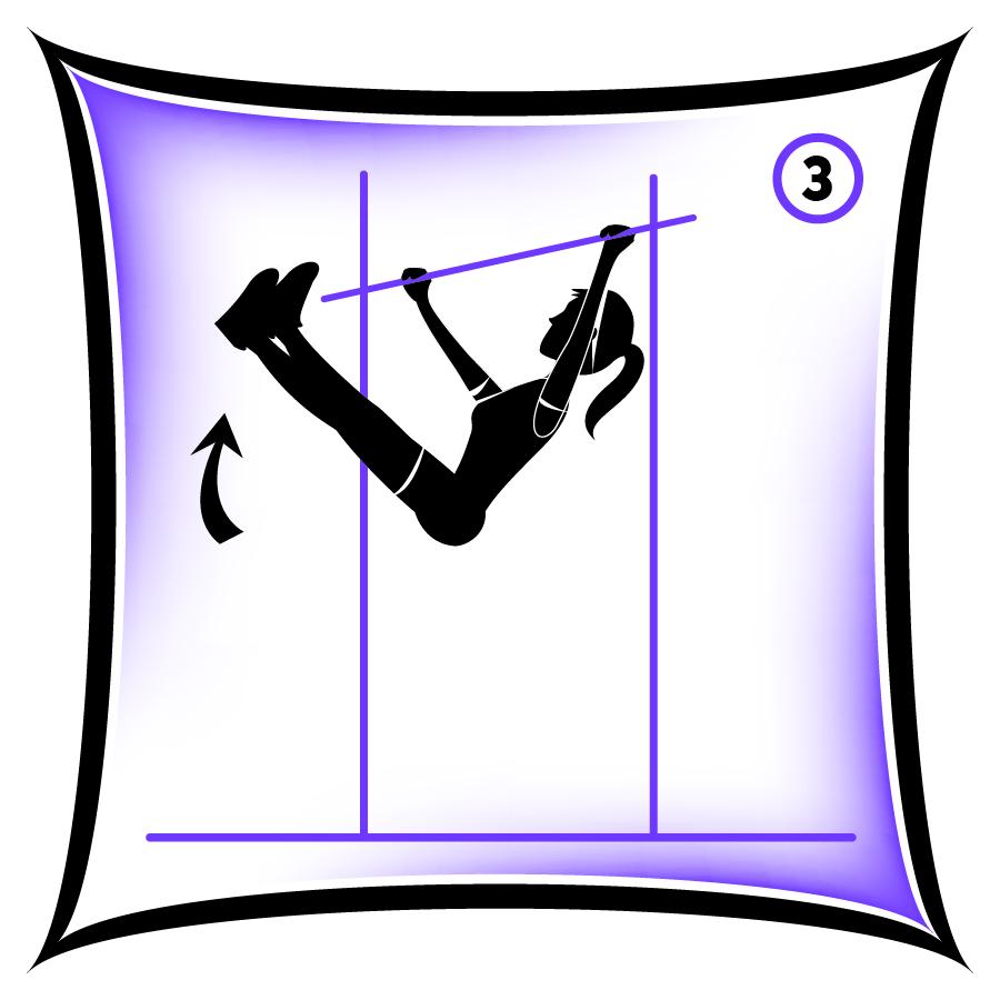 Circuit 1 Core Hanging Leg Raise 3 (make it harder)